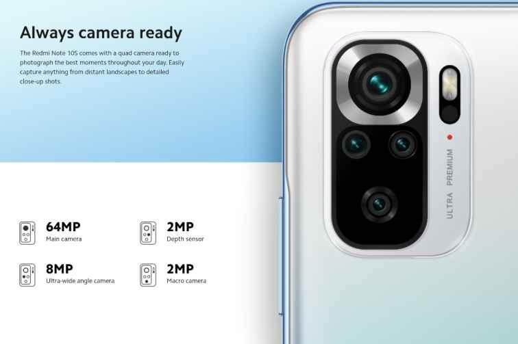Redmi Note 10s Rear Camera Setup