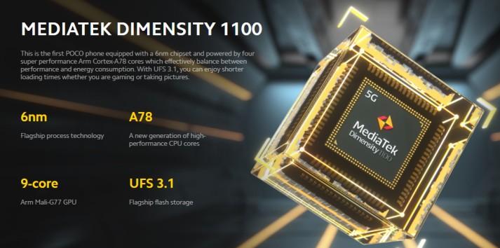 Poco X3 GT Processor