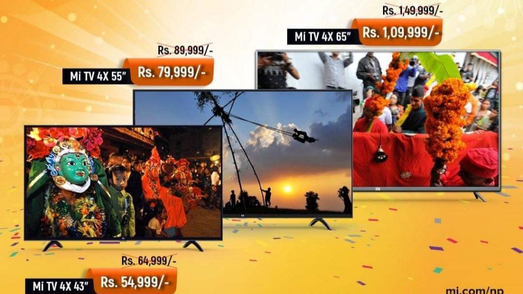 Xiaomi Nepal Dashain Discount on Mi TVs